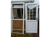 Double glazed exterior door and frame