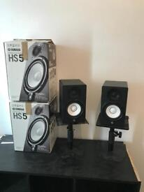 Yamaha HS5 x 2 Monitors with Stands