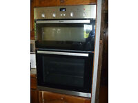 NEFF built in double oven - less than 1 year old