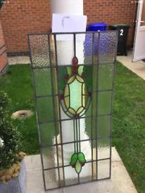 Art Deco early 1900s stained glass windows, lead lined