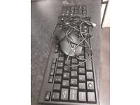 Wired Keyboard and wired Mouse Set for PC or Laptop Notebook