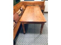 Solid wood antique pine dining table