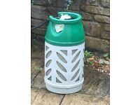 Gaslight propane refillable 10kg bottle green and white purchased from Homebase