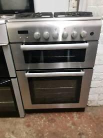 Prestige 60cm silver gas cooker