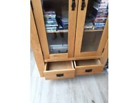 Solid Oak and Glass Cabinet