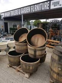 Half and quarter barrels for planters