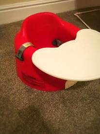 Immaculate Bumbo Seat with Straps, Tray