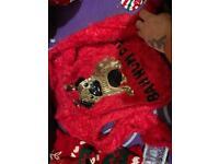 Girls pug Christmas jumper