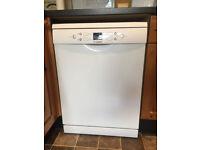 White Bosch freestanding dishwasher in good clean working order.