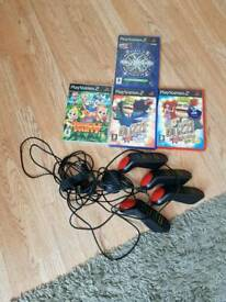 buzz controllers and 4 games for ps2