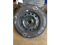 Citroen c3 brand new Michelin tyre on steel run 165 70 14