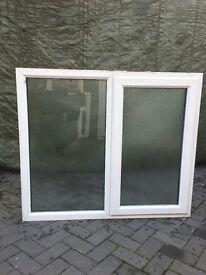 Used white Upvc Window internally glazed Work shop, shed, garden building W5