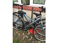 A matching pair of ladies mountain bikes