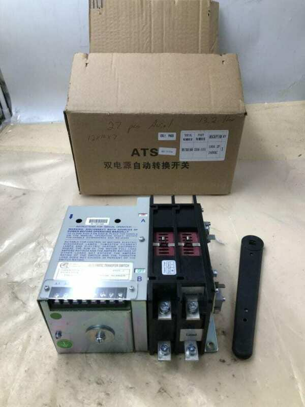 Cummins 0306-5191 2 Pole 100A Automatic Transfer Switch 240V -NIB