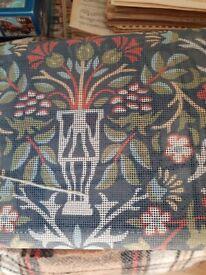 William Morris Tapestry kit. Meg Evans, completewith frame