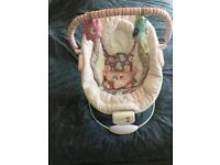 Pink owl baby chair