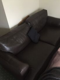 2 seater leather sofa - Very Good Condition - Free - Collection only