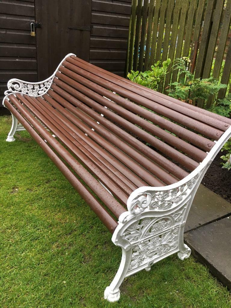 Reclaimed Victorian Restored Cast Iron Garden Bench In