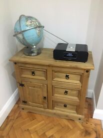 Solid Oak small sideboard cabinet