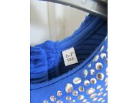 Marks and Spencer Girls Cobalt Blue Party/Occasion Dress Age 6-7