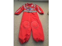 Disney store lightening McQueen dressing up outfit age 5-6yr