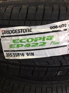 4 Brand New Bridgestone Ecopia EP 422 Plus 205/55R16 *** WallToWallTires.com ***