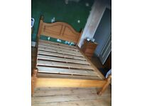 Lovely solid pine, Double Bed Frame good quality