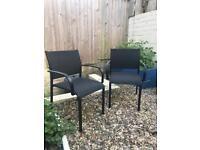 2 habitat garden / outdoor chairs