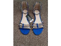 new with tags, size 3 blue sandles