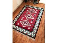 Tunisian/North African rug in geometric design.