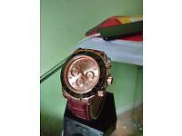 Rolex daytona rose gold (leather)