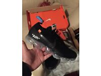 Nike off white vapormax trainers size 8.5 uk