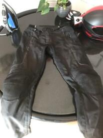 RST Textile Motorcycle Trousers.