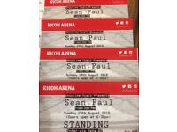 SEAN PAUL TICKETS @ RICOH ARENA COVENTRY