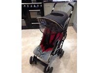 Maclaren Techno XT Stroller in red/grey