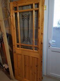 Pine preglazed internal door