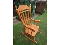 **LARGE SOLID PINE ROCKING CHAIR**