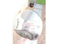 Callaway Great Big Bertha Hawkeye 8 degree Driver, R/hand