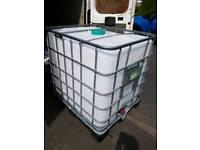 IBC water storage tank.