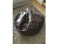 Brown Faux Leather Gaming Bean Bag
