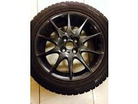 Very good alloys with tyres .come off a toyota .