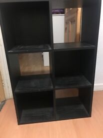 Black Cube Storage Unit