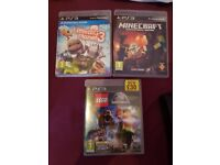 Ps3 500gb console, cotroller and 3 games
