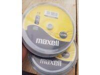 Blank re writable cd 10 in a pack (2 packs)