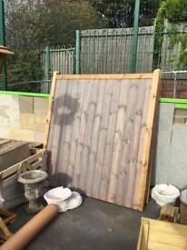 Brand new double wooden Gates
