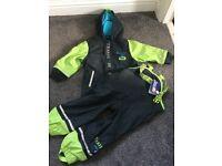 Boys waterproof jacket and trousers 2-4 years