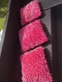 Pink next glitter cushions