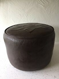Foot stool chocolate brown leather?