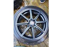 4x100 carbon fibre wrapped wheels