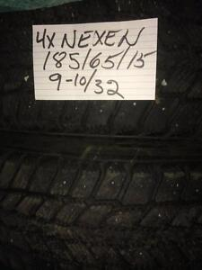 4 pneus 185/65/15 hiver